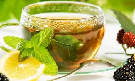 Зеленый чай с мелиссой