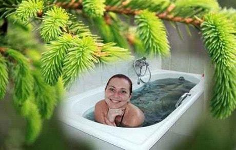 Настой хвои для ванны