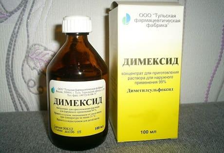 Лечение суставов димексидом